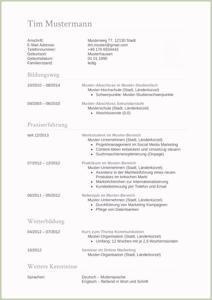 Lebenslauf Muster Wordpad Lebenslauf Muster Zum Kopieren 63 Phantasie Für 2019