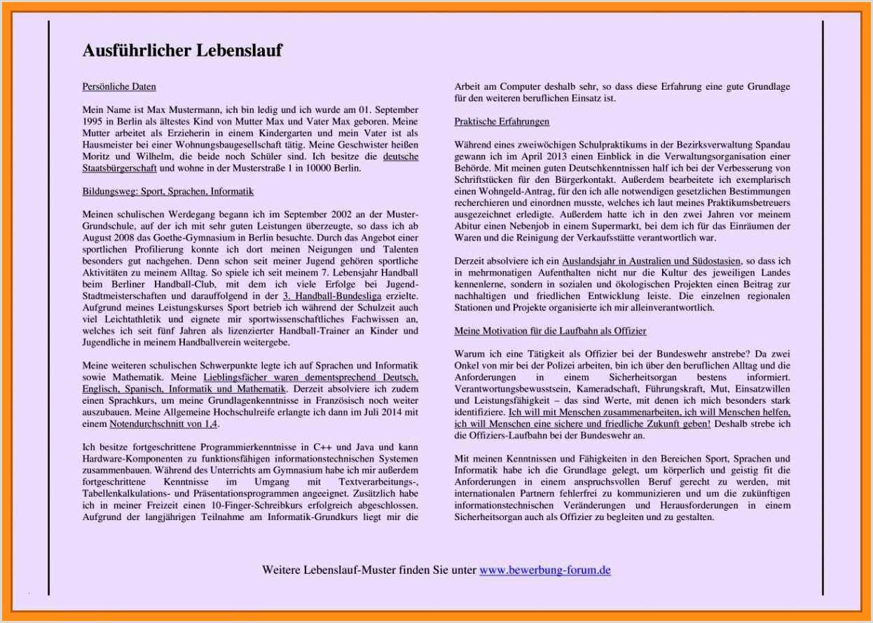 Lebenslauf norwegen Muster 18 Lebenslauf Hausmeister
