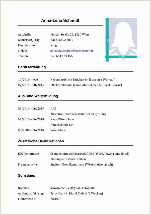 Lebenslauf Vorlage Schüler Handschriftlich 1 Mahnung Muster 2019 01