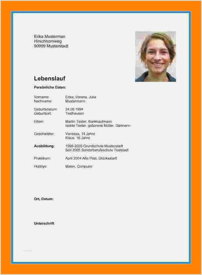 Photo of Lebenslauf Vorlage Schülerjob
