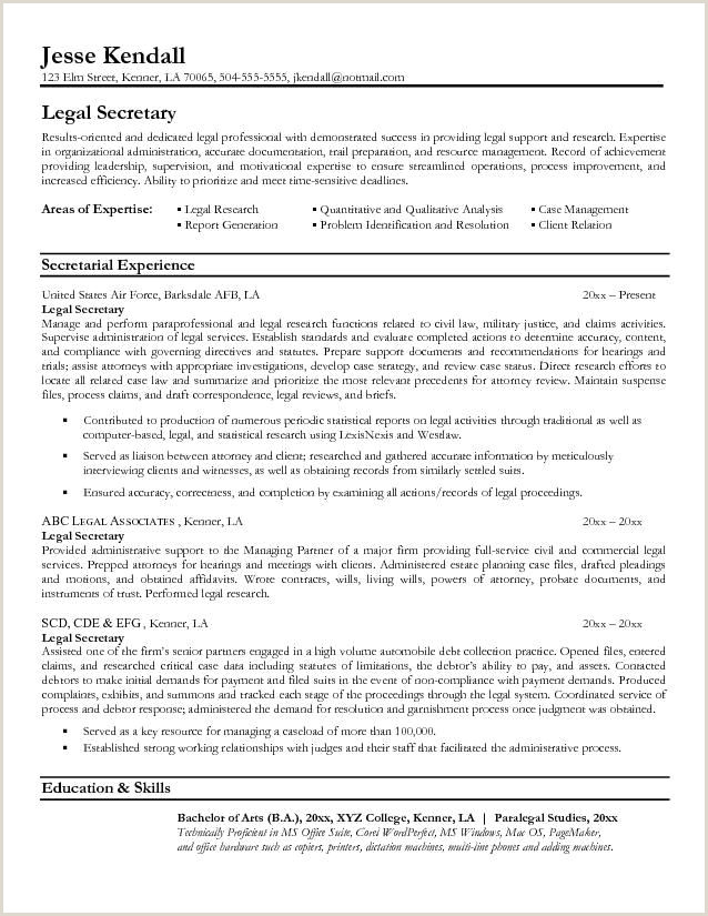 Legal assistant Cv Legal Resumes Legal Secretary Resume Sample Law