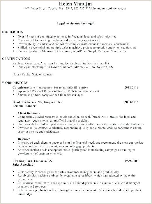 Paralegal Resume Template Sample Corporate Paralegal Resume