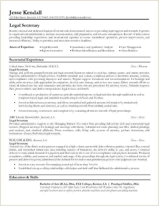 Legal Secretary Resume Templates Legal Resume Objective formidable Sample Objectives for