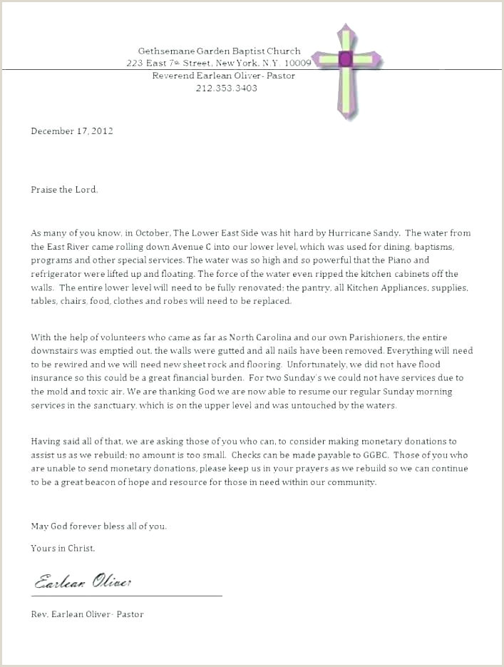 Letter asking for Donations for Church Sample Letter asking for Donations for Funeral Expenses