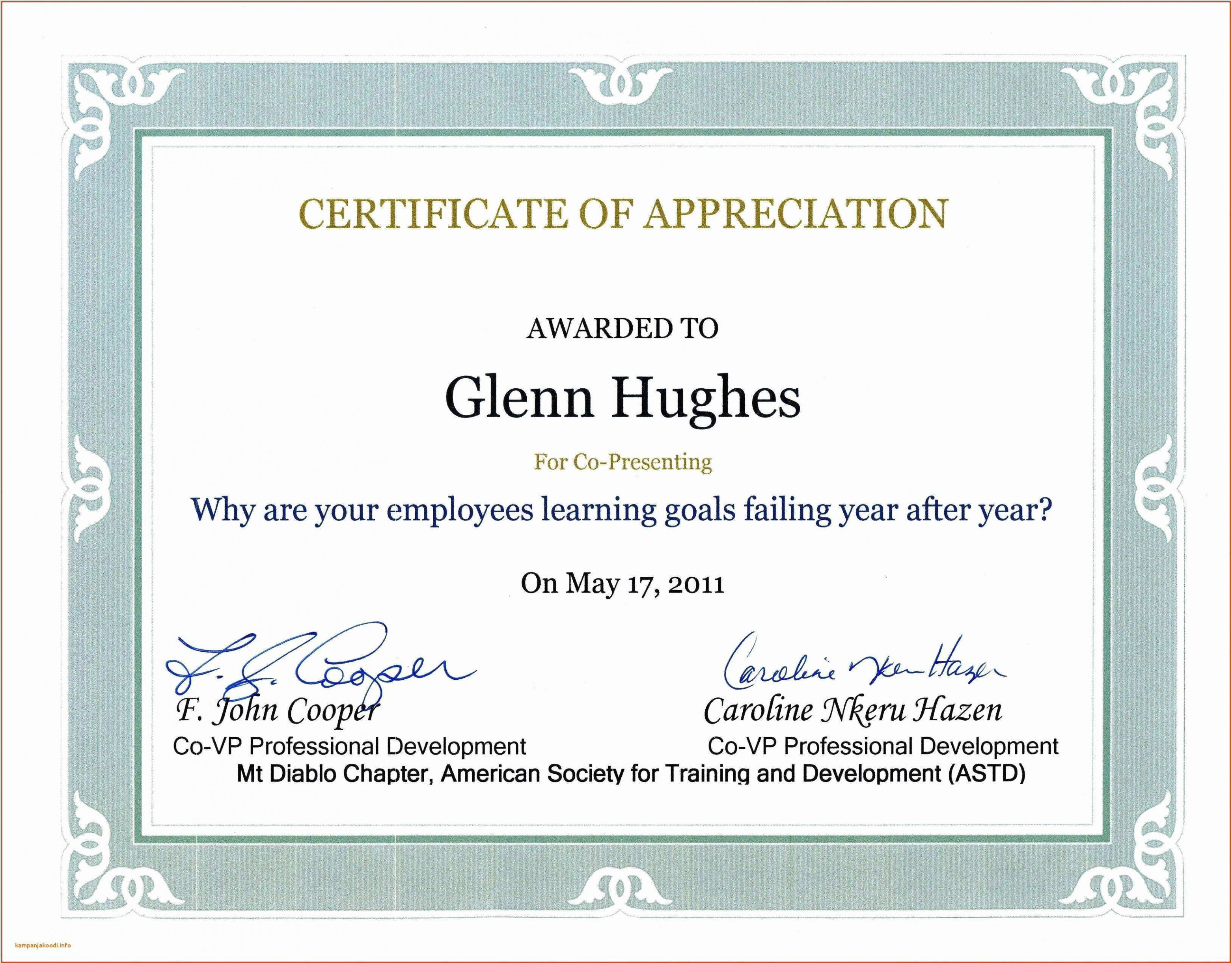Letter Of Appreciation Usmc Certificate Achievement Wording Climatejourney