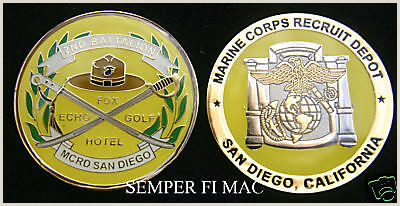 Details about 2nd RTBN MCRD BOOT CAMP FOX ECHO GOLF HOTEL CHALLENGE COIN US MARINES MR YELLOW