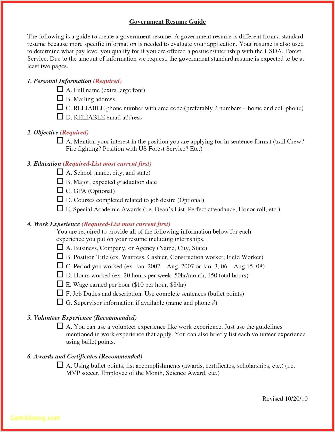 Resume Format How To Write For Government Job Fabulous