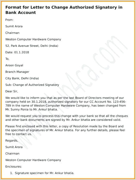 Employment Verification Letter Sample Format Signature For B