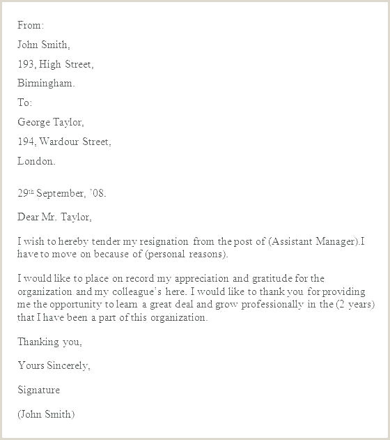 Job Leaving Notice Letter Resign For Resignation Sample 2