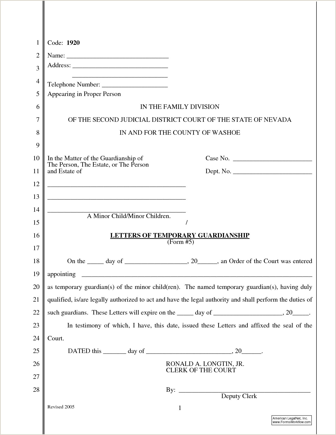 Temporary Guardianship Letter Template Examples