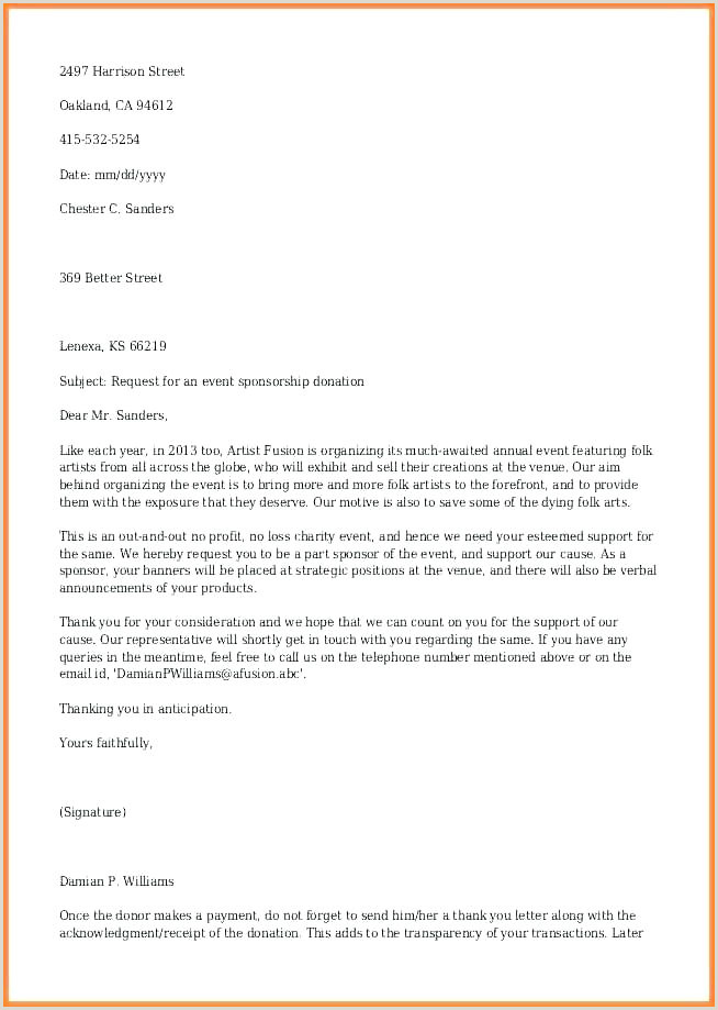 Letter Requesting Donations for School In Kind Donation Request Letter Sample – Tracenumberr