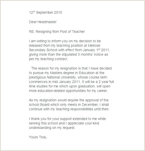 Letters Of Retirement Templates Teacher Resignation Letters Letter Example form Mid Year