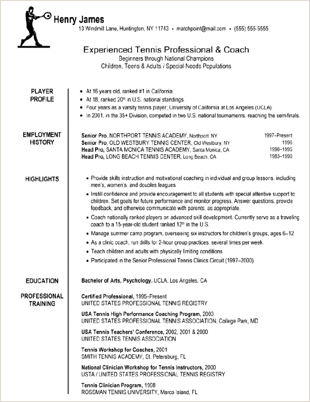 Life Coach Resume Example soccer Coach Resume Template Beautiful A 35 soccer Coach