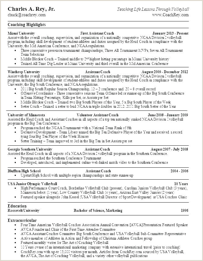 Life Coach Resume Example top Resume Templates Sports Template Info Job Examples Coach