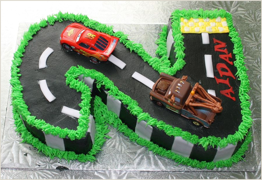 number 2 two Cars birthday cake — Children s Birthday