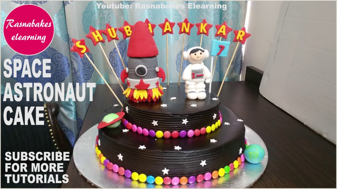 Galaxy Space Astronaut cake design boys girls Homemade bakery Birthday cake ideas for kids videos