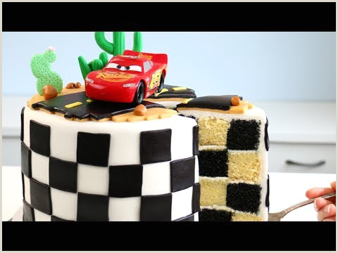 Lightning Mcqueen Cake Tutorial Videos Matching Cars Cake Tutorial How to Cook that Disney