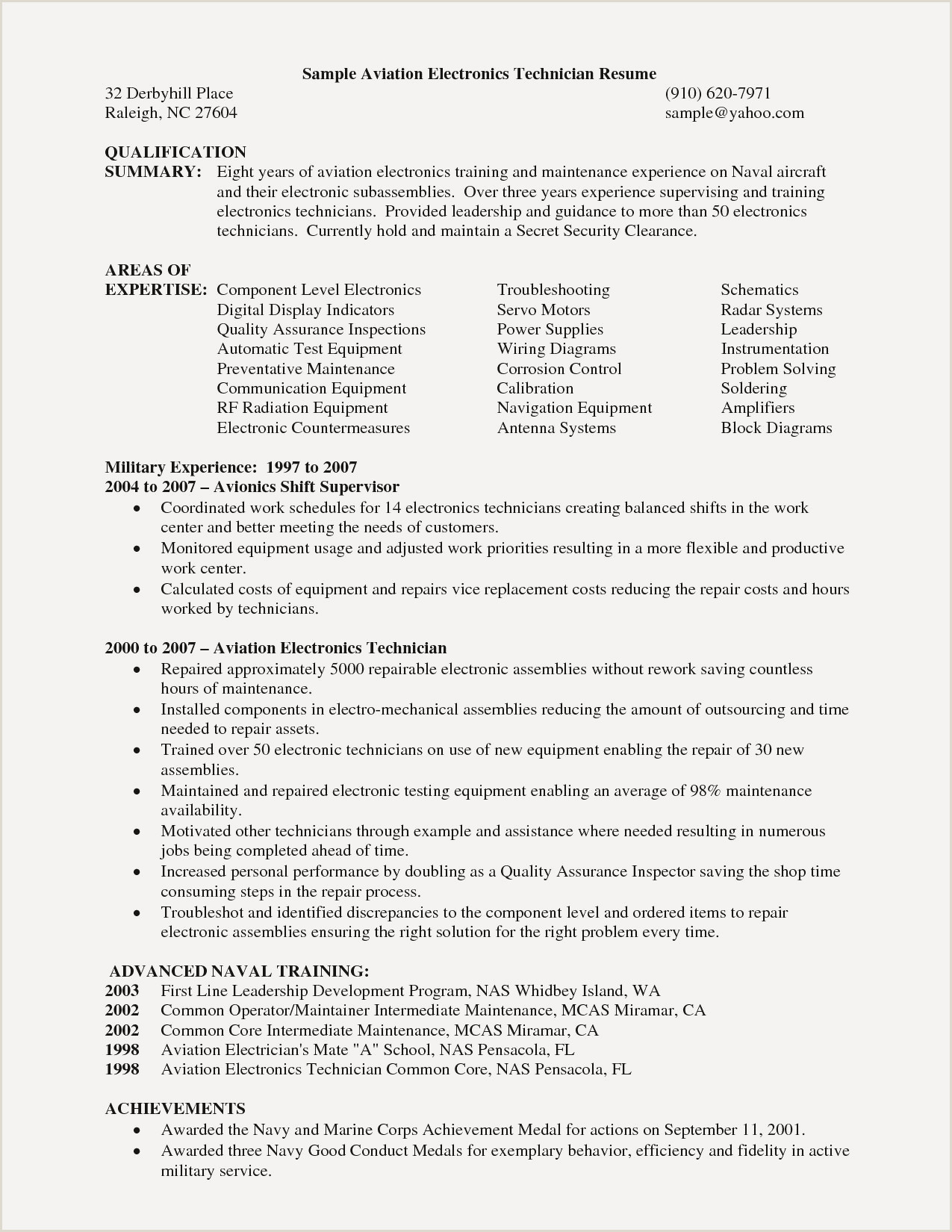 Lovely Quality Technician Resume