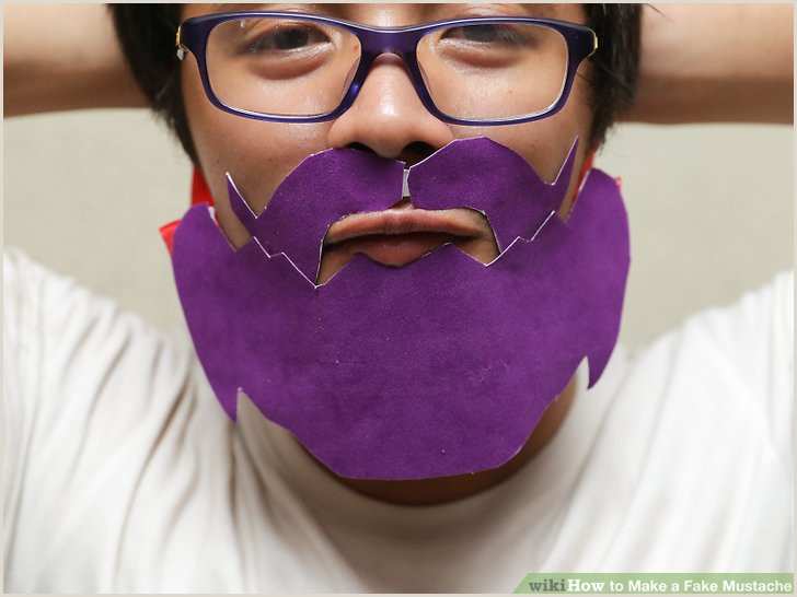 Lips and Mustache Template 4 Ways to Make A Fake Mustache Wikihow