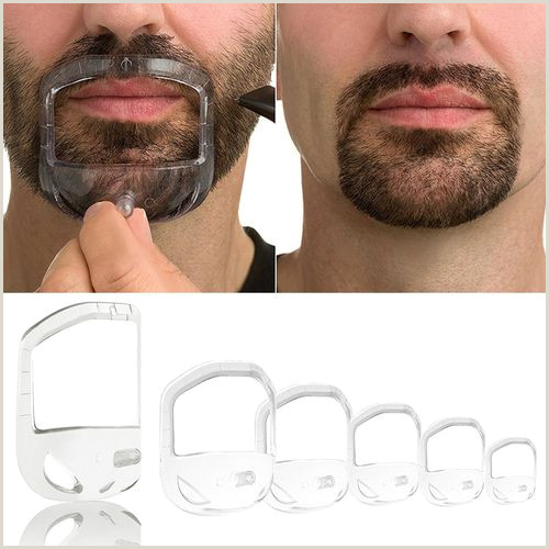 Lips and Mustache Template High Quality Shower Salon Mustache Beard Styling Template Shaving Shave for Beard Shape Style Barba B Care tool 5 Pcs Vova