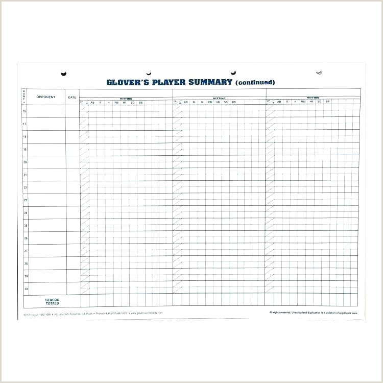 Little League Score Sheet Printable softball Scorebook Template – Stephhammer