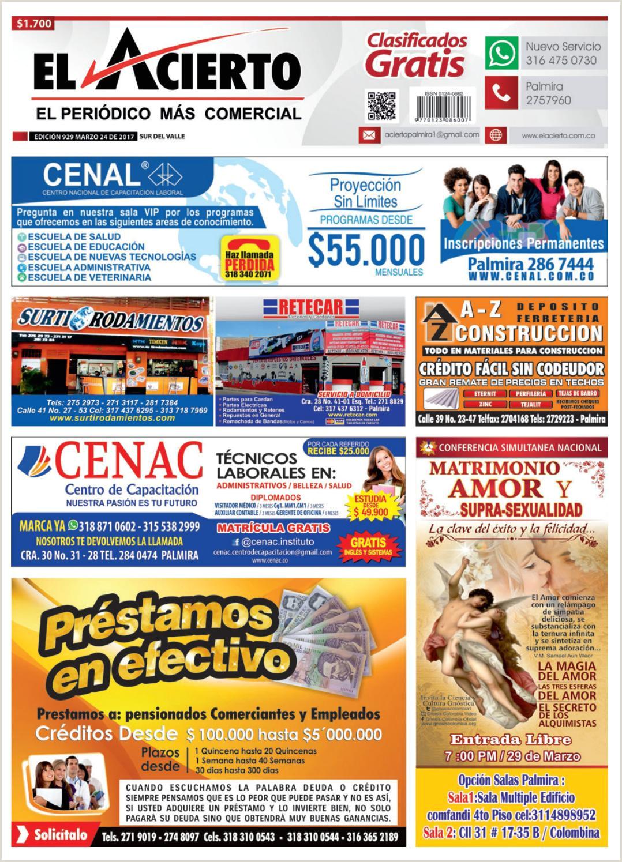 Llenar Hoja De Vida Minerva Por Internet Palmira 929 24 De Marzo 2017 by El Acierto issuu