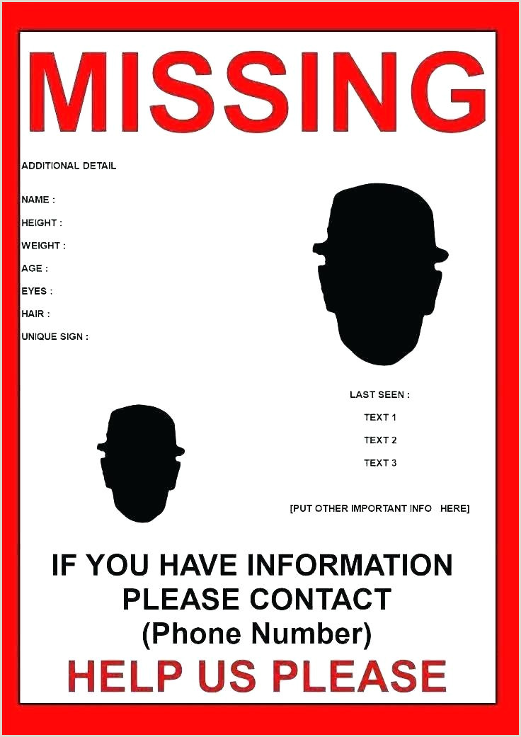 missing person ad template