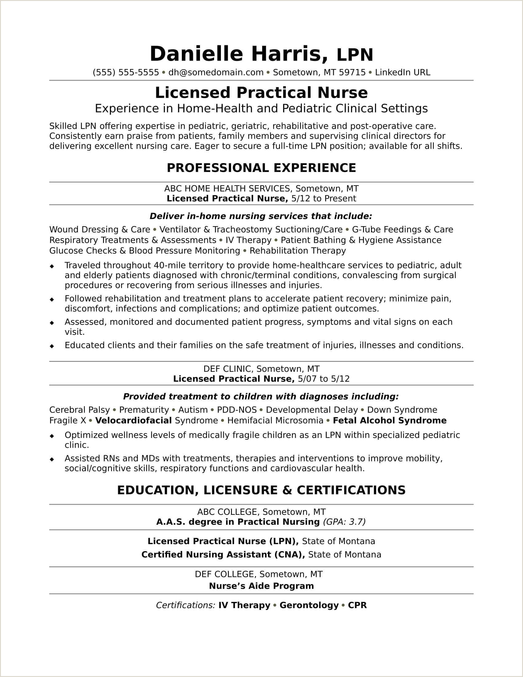 67 Elegant s Sample Resume Registered Nurse Long