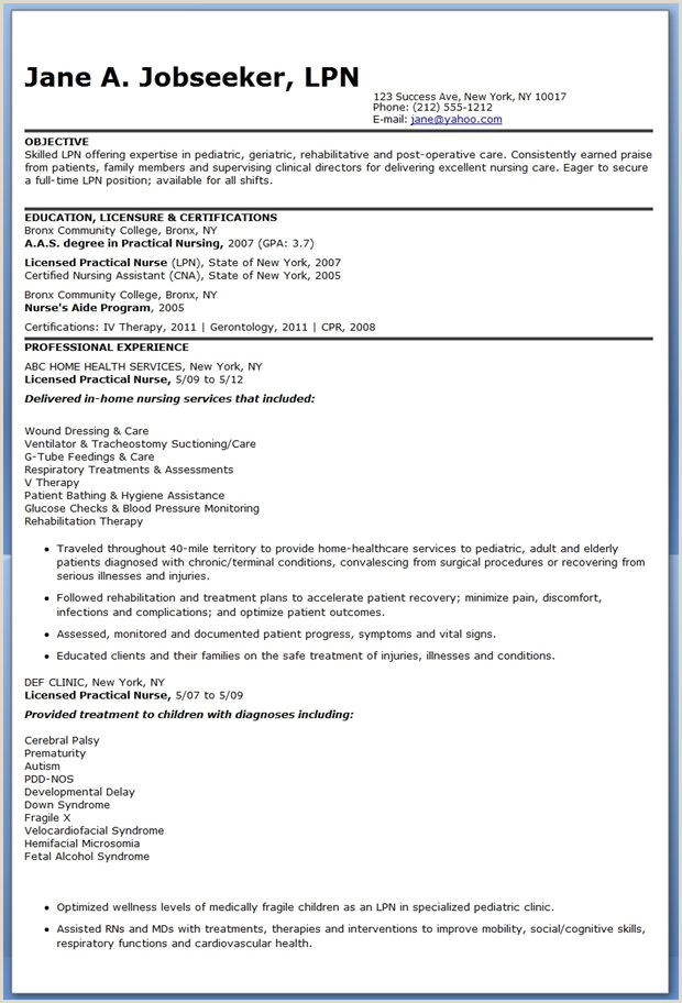 Lpn Resume Examples Example Document and Resume
