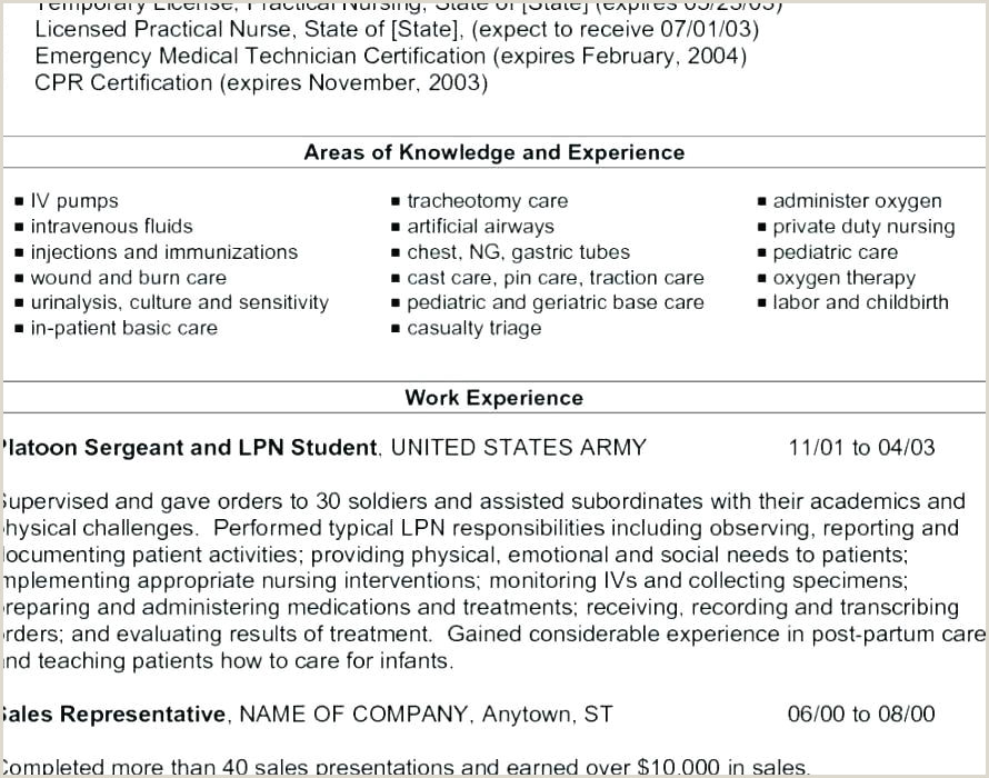 Lpn Resume Objective Lpn Resume Sample