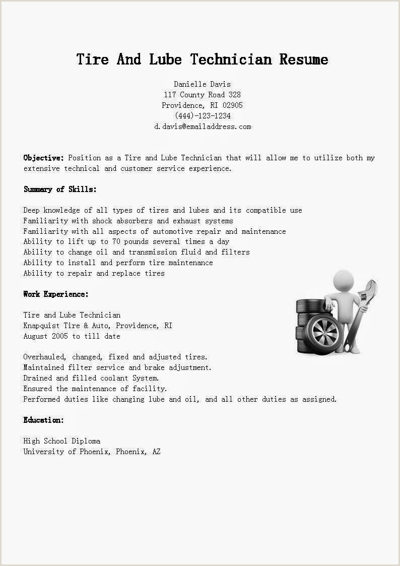 Lube Technician Job Description Tech Resumes Ardocsurvey