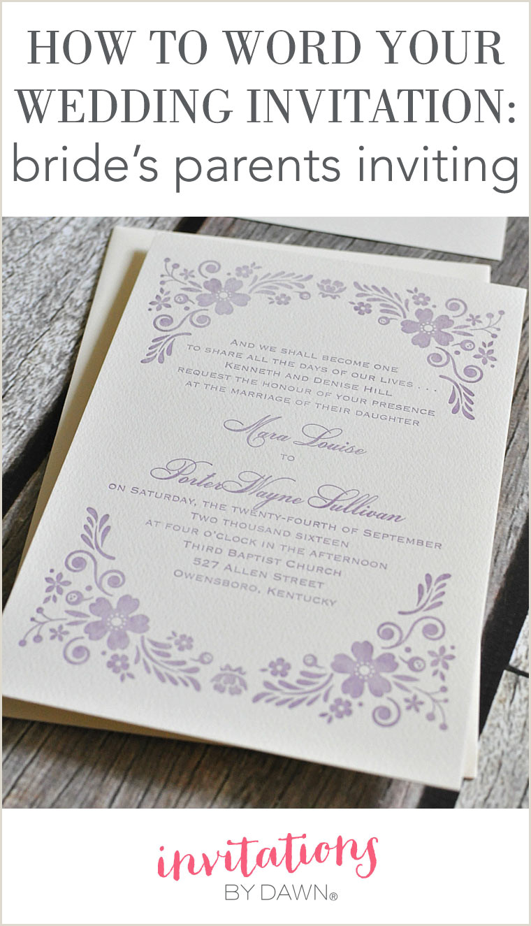 How to Word Your Wedding Invitations – Bride s Parents