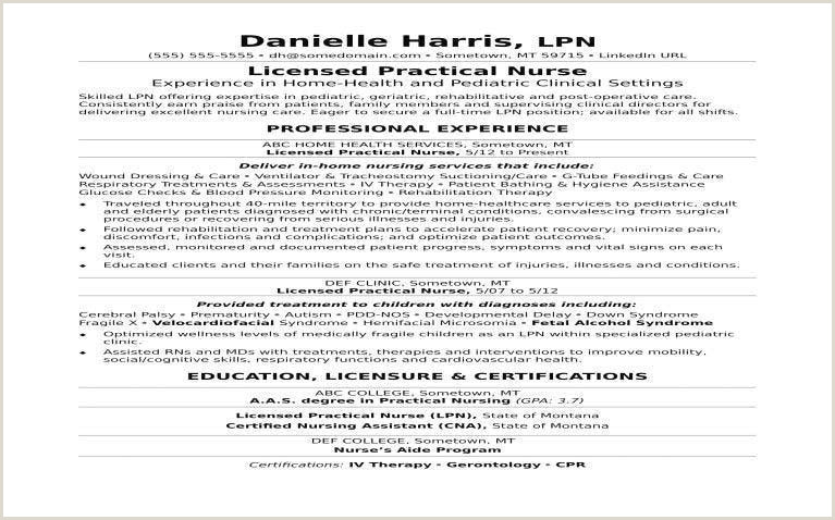 Lpn Resume 650 405 Licensed Practical Nurse Sample Resume