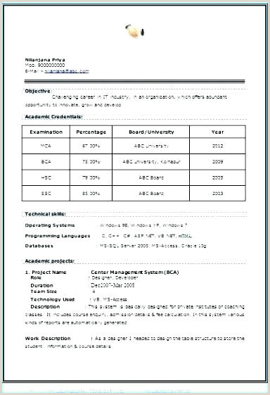 Ma Fresher Resume Format Pdf New Format Of Resume – Emelcotest