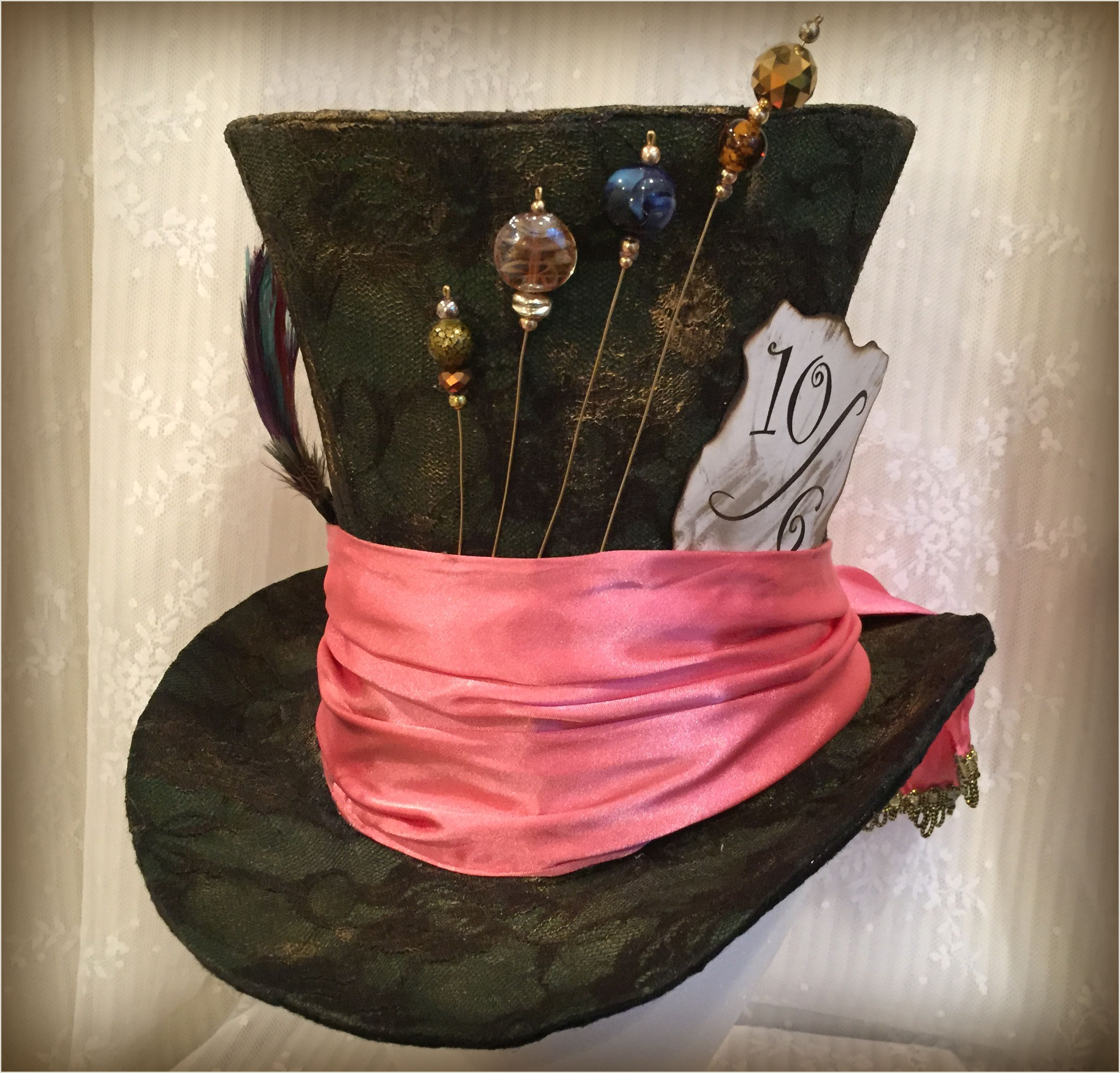 Mad Hatter Hat Card Full Size Tim Burton Mad Hatter Hat top Hat Steampunk