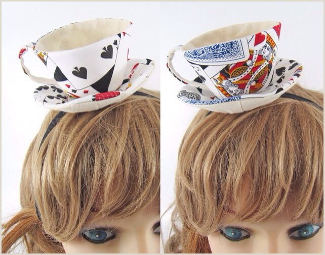Mad Hatter Hat Card Tea Cup Hat