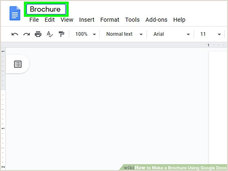 Make A Pamphlet Google Docs How to Make A Brochure Using Google Docs with