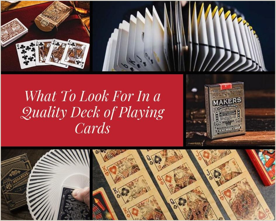 What To Look For In a Quality Deck of Playing Cards