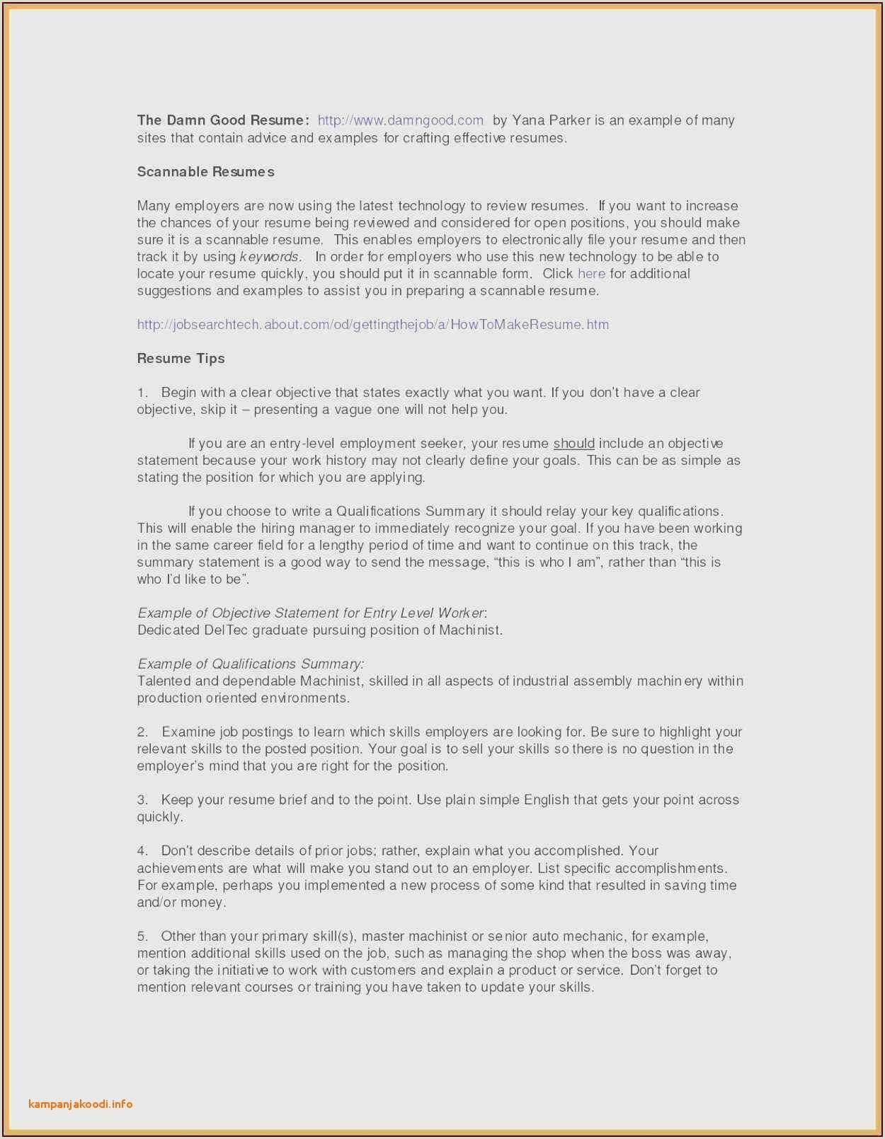 Executive Resume Sample Pdf New Resume Empty Resume Format