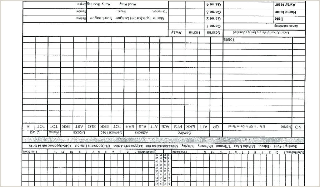 Mark V Basketball Scorebook Template Basketball Stat Book Template