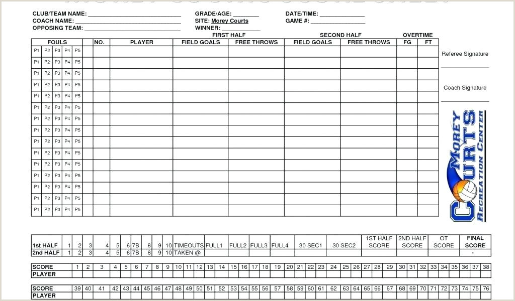 Mark V Basketball Plate Lovely Roster Score Sheet Scorecard