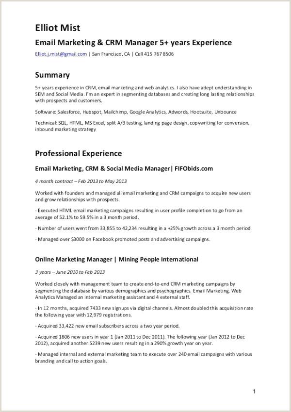 Marketing Career Objective 63 Beau Image De Exemple Cv Manager