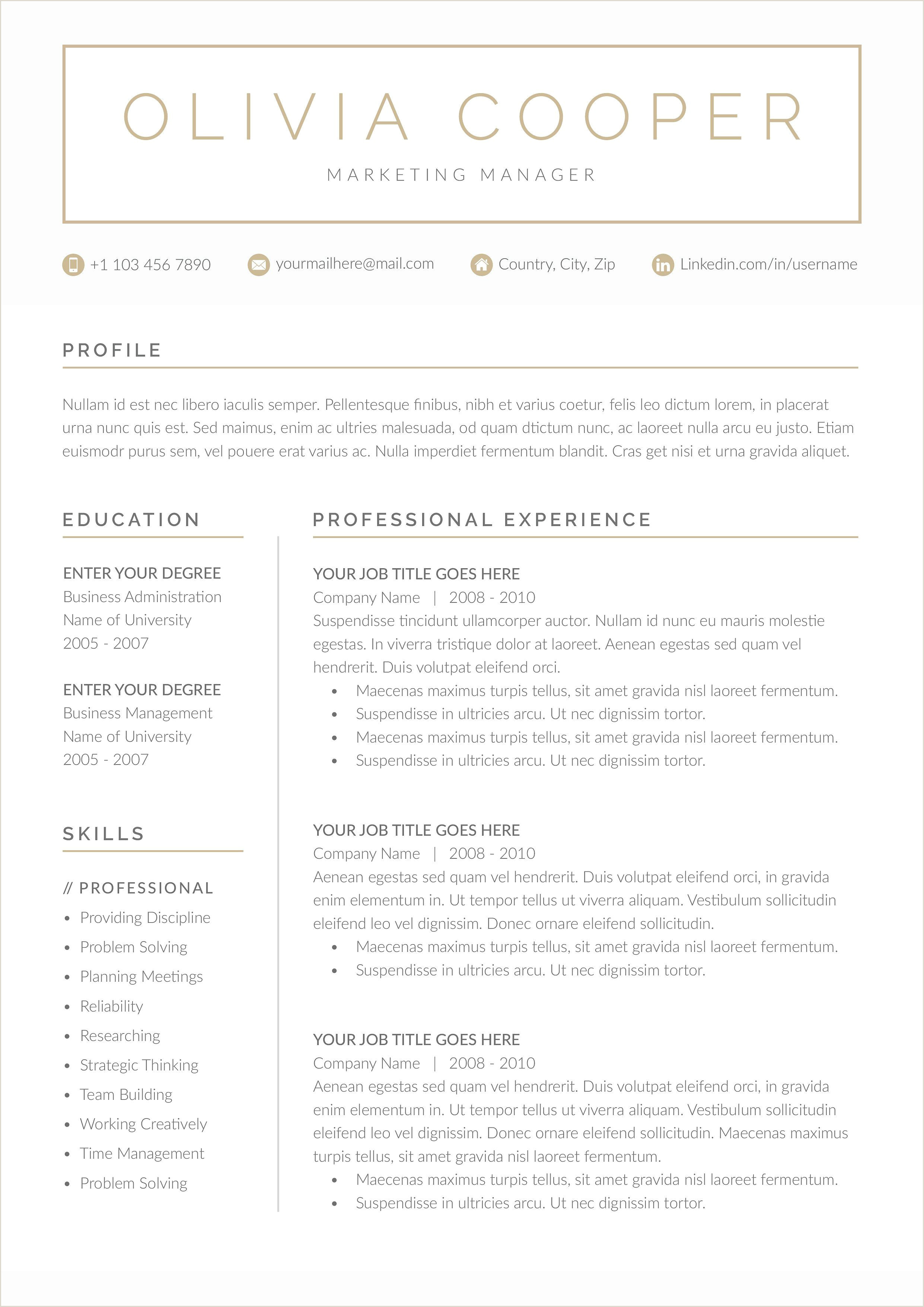 Word Resume & Cover Letter Template Wel e to the