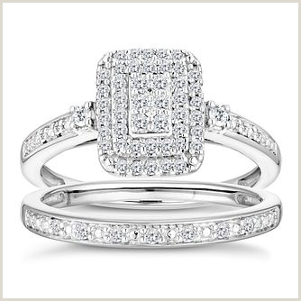 Marquise Cut Diamond Size Chart 9ct White Gold 1 3 Diamond Perfect Fit Bridal Set