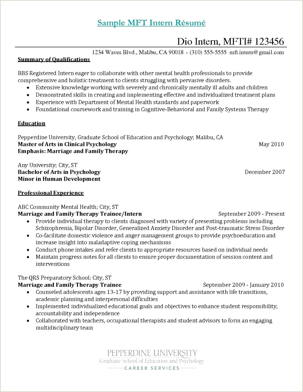 Marriage and Family therapist Resume 10 Counselor Resumes Samples