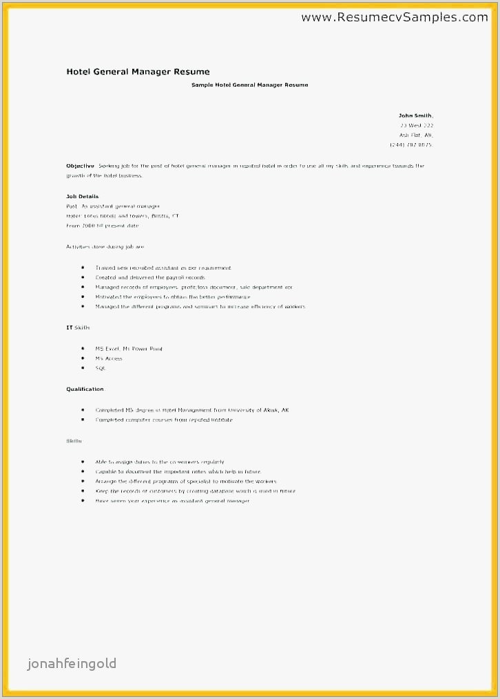 Hospitality Resume Examples Free My Perfect Resume Sample
