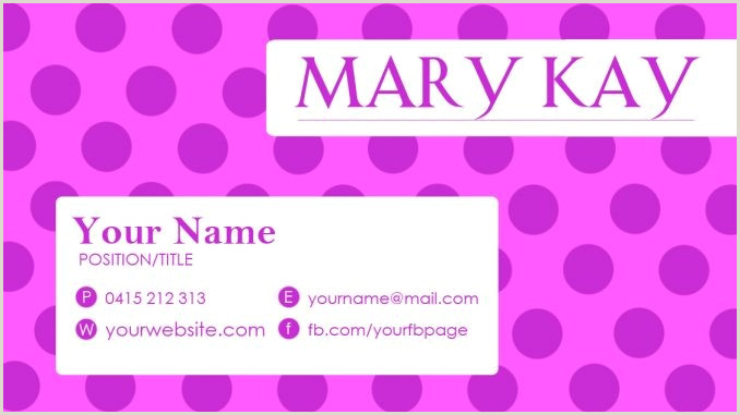 Mary Kay Business Card Template
