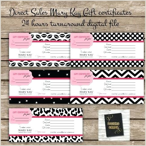Mary Kay Gift Certificates Printable Cards – blkmwtkns