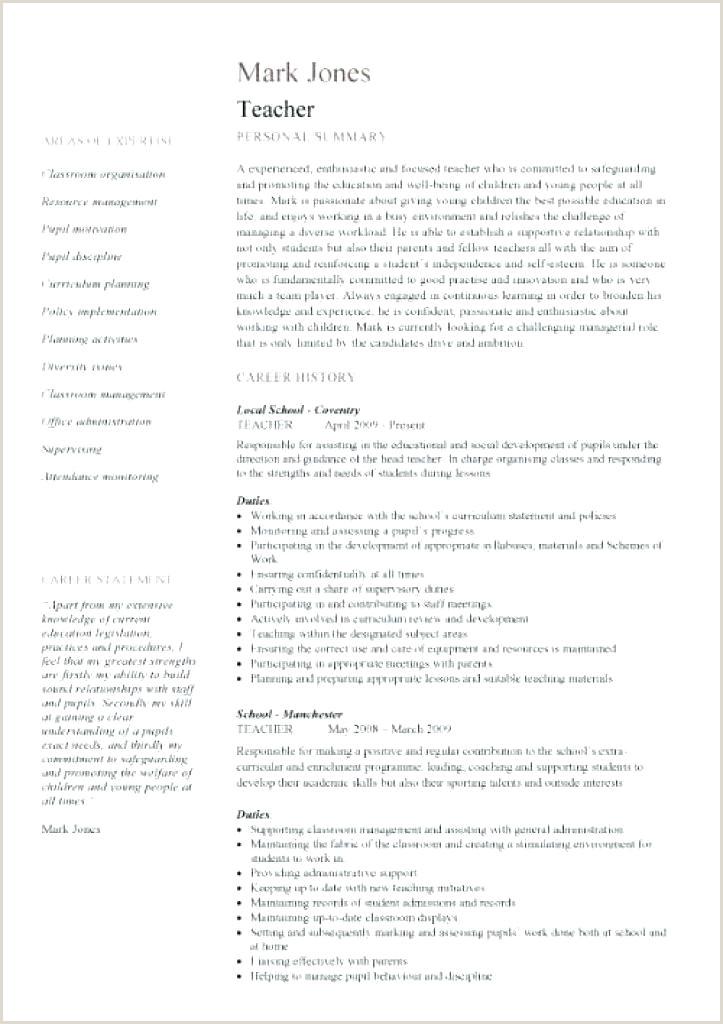 Template Education 1 Cv For Teaching Job Sample English