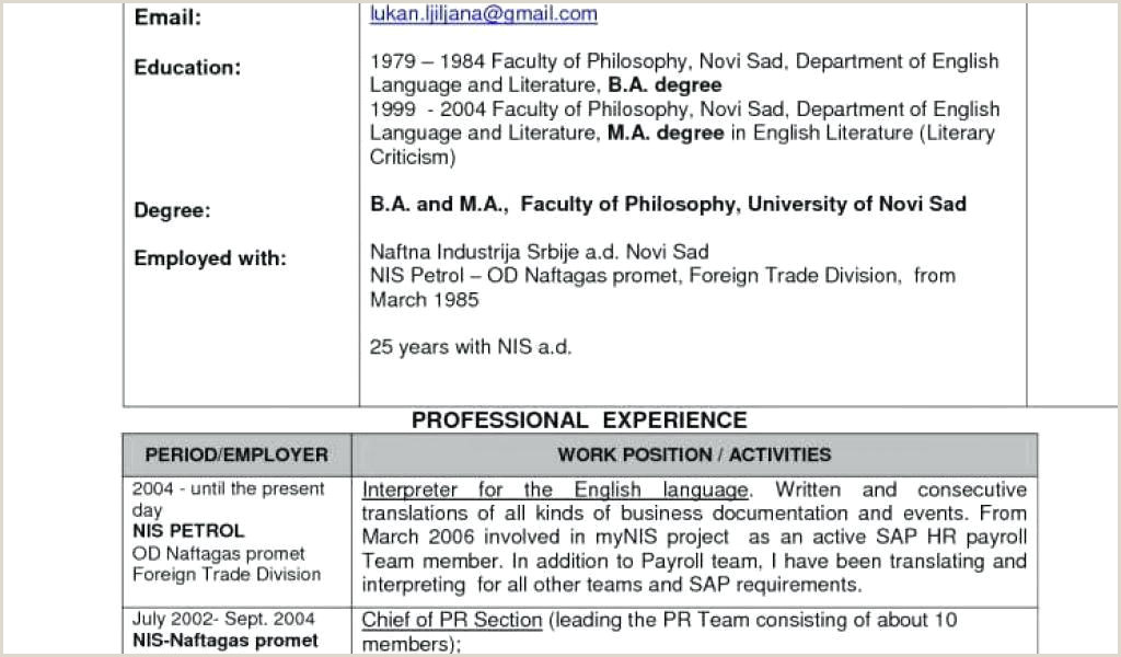 Mba Fresher Resume format Doc Download 40 Luxury Free Download Professional Resume format Freshers